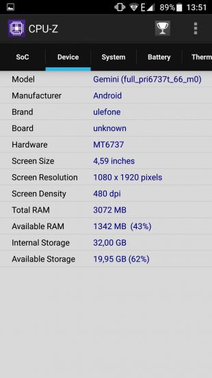 Ulefone Gemini: технические характеристики 2