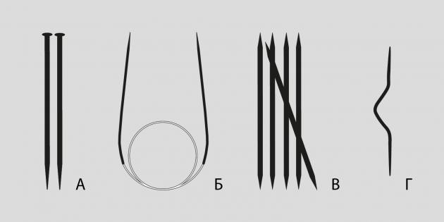 Как научиться вязать: виды спиц