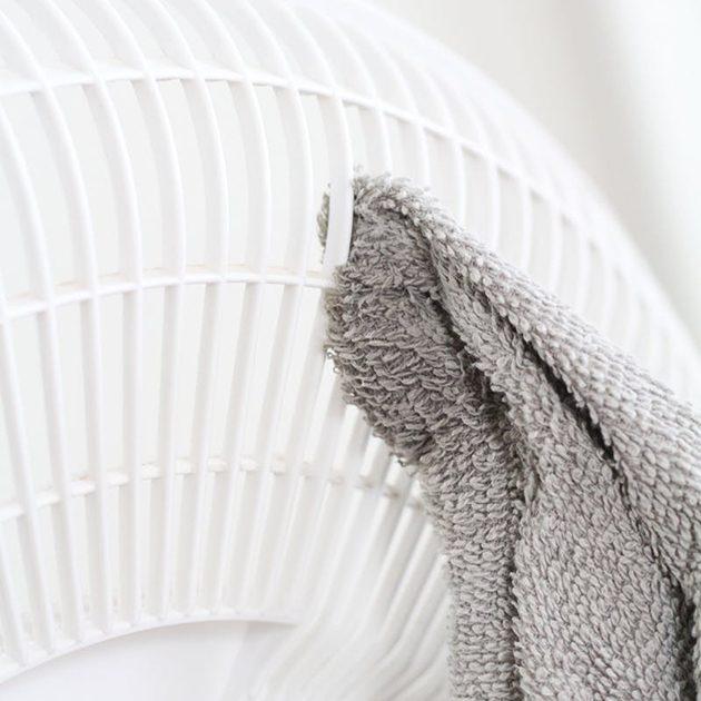 как почистить вентилятор: тряпка