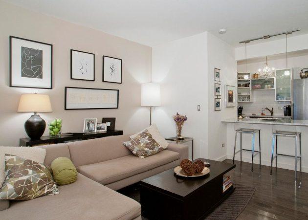 Правильное зонирование пространства: диван