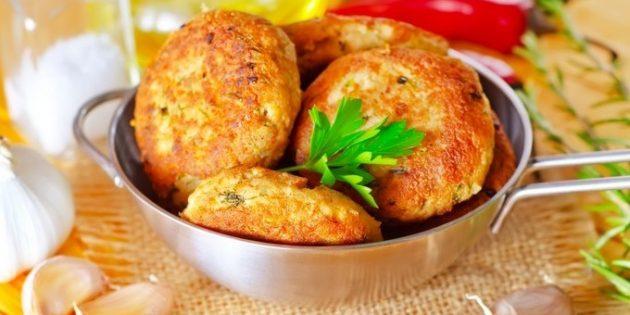 Картофельные котлеты с сыром и укропом