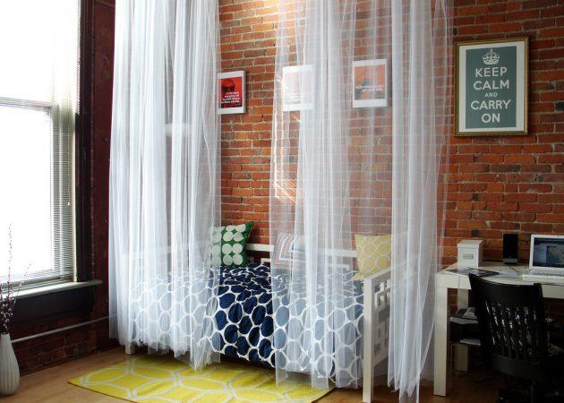Зонирование пространства с помощью штор