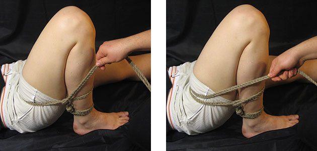 Элементы шибари: связанные ноги