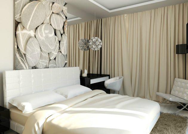 Шторы в интерьере спальни: цвета