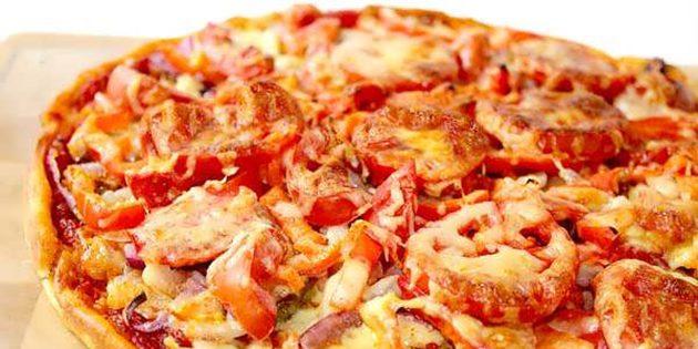 Быстрое бездрожжевое тесто для пиццы на кефире