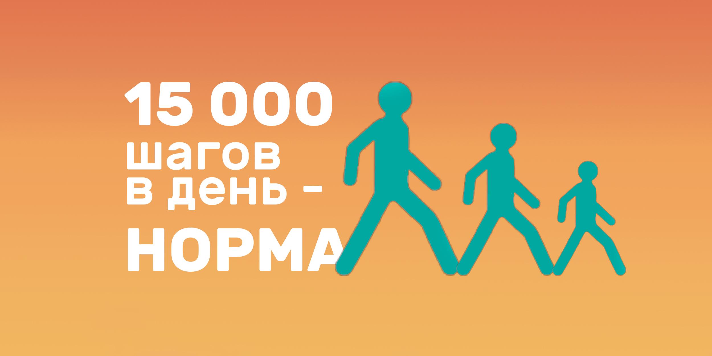 15 000 шагов — новое правило здоровья
