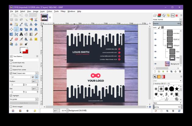 как открыть файл PSD: GIMP