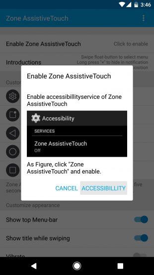 Zone AssistiveTouch: включение виджета