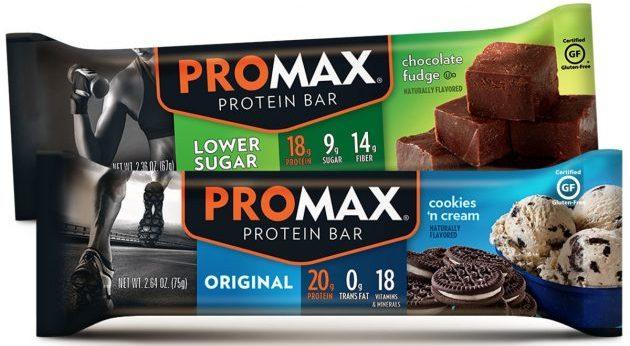 спортивное питание для девушек: батончики Promax Nutrition