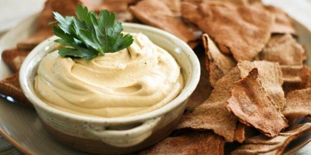 рецепты для вегетарианцев: хумус