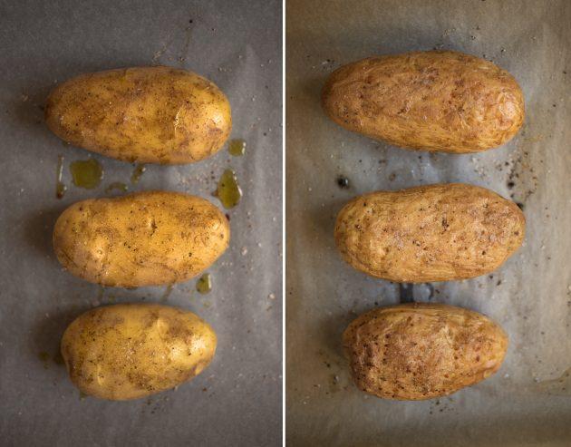 фаршированный картофель: клубни