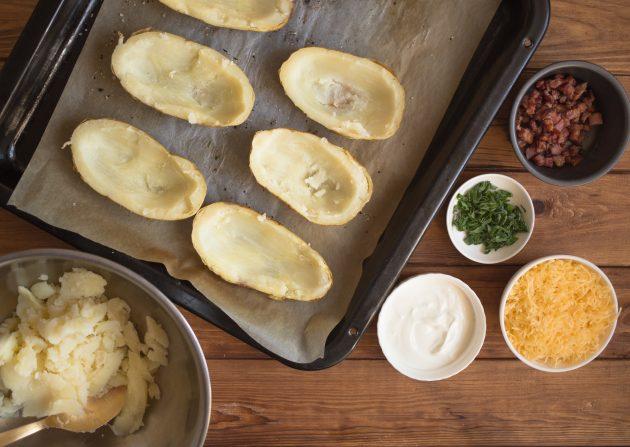 фаршированный картофель: картофельные чашечки