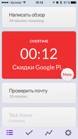 Time: перерасход времени