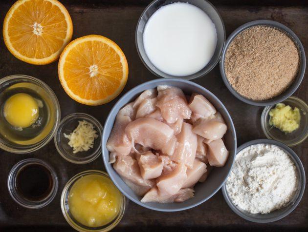 Рецепт хрустящей курицы в апельсиновой глазури