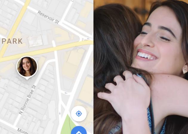 В Google Maps теперь можно делиться местоположением и следить за друзьями