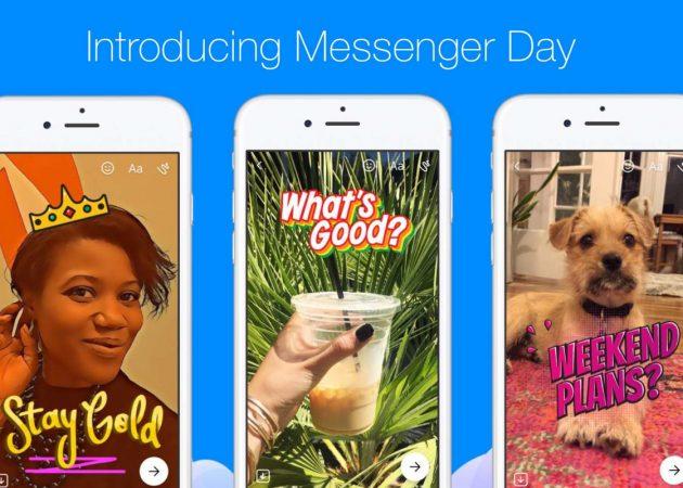 Facebook запускает Messenger Day — аналог Snapchat Stories