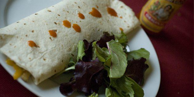 рецепты быстрых блюд: куриное буррито