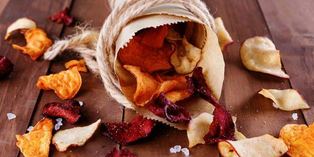 рецепты постных блюд: овощные чипсы