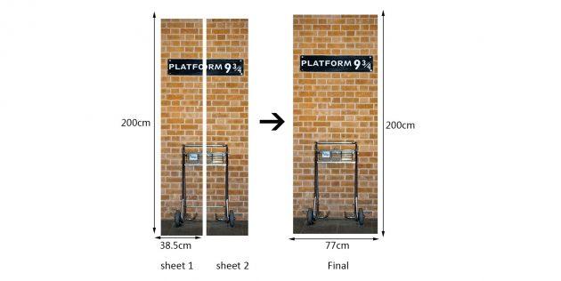 3D-наклейка на дверь
