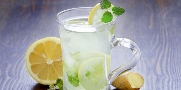 газированный лимонад: имбирный лимонад