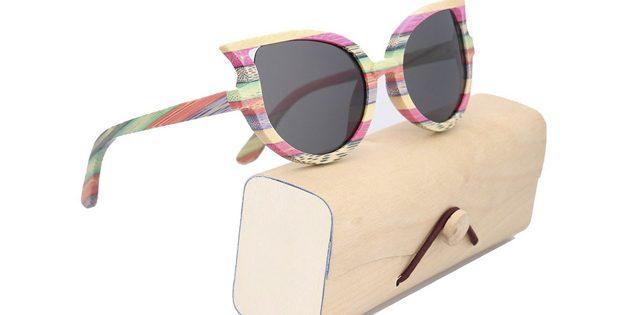 Солнцезащитные очки в бамбуковой оправе