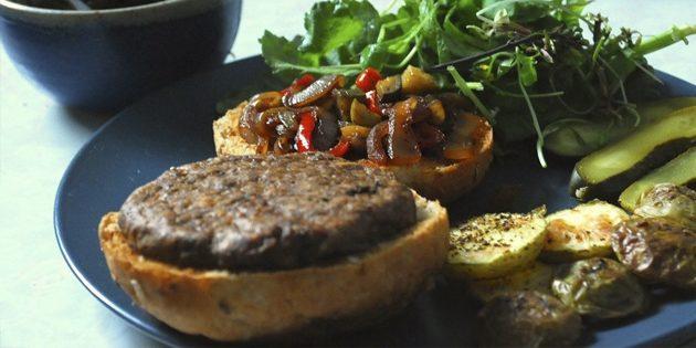 рецепты постных блюд: гамбургер