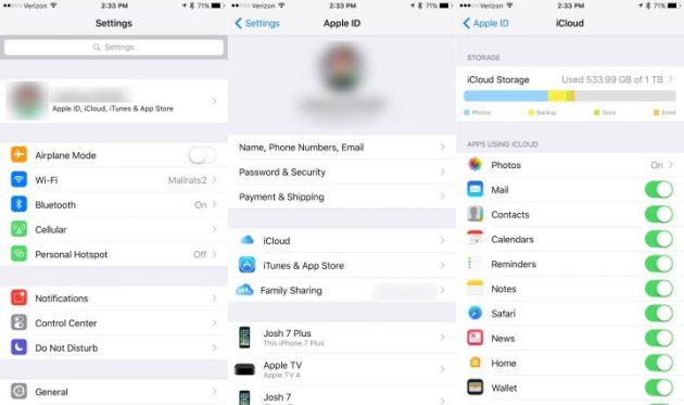 iOS 10.3: iCloud
