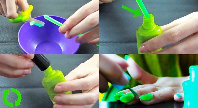 как сделать лак для ногтей: палочки