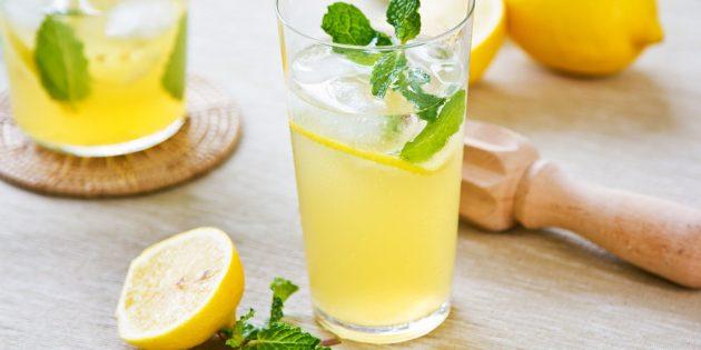 газированный лимонад: без сифона