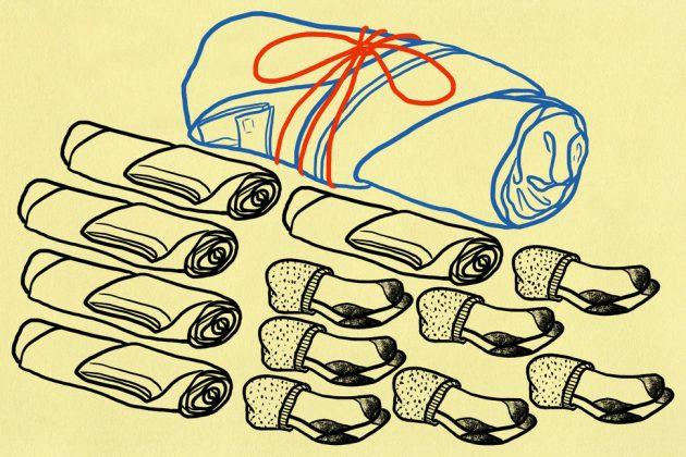 как упаковать чемодан: сворачивайте вещи