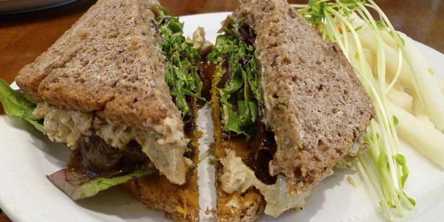 рецепты постных блюд: сэндвич с фасолевым паштетом