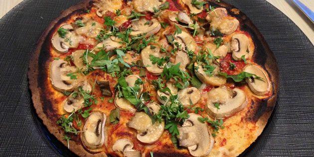 рецепты постных блюд: постная пицца