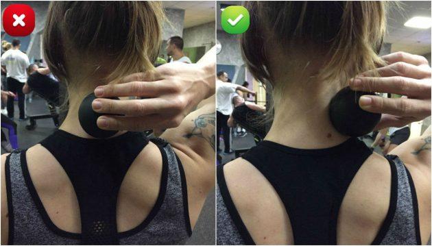 массажный ролик: массаж шеи