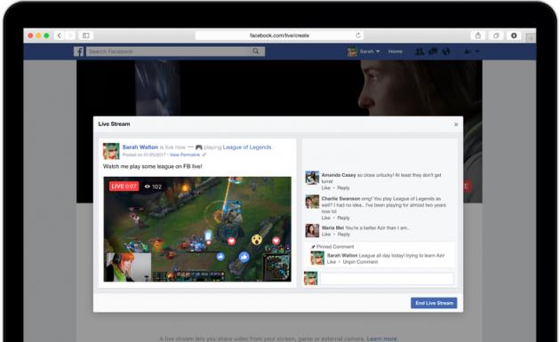 Трансляции в Facebook теперь можно вести с компьютера