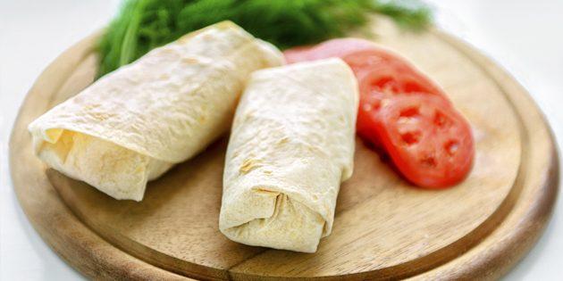 рецепты постных блюд: постная шаурма