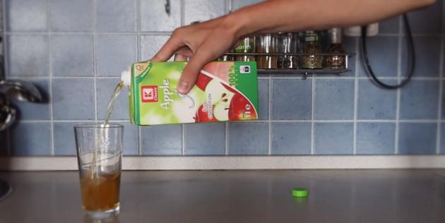 Как правильно открывать пакет сока