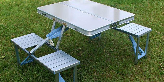 товары для пикника: складной стол со стульями