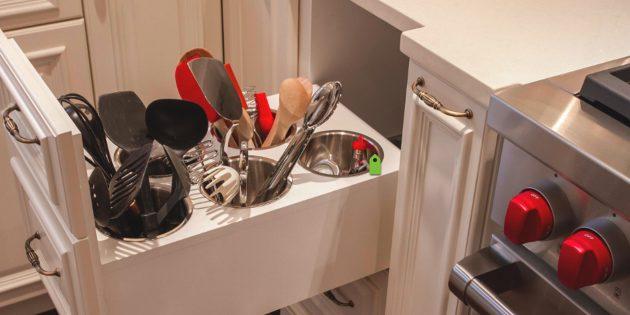 15 неожиданных идей для хранения на кухне