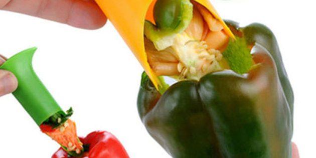 Приспособление для удаления сердцевины овощей и фруктов