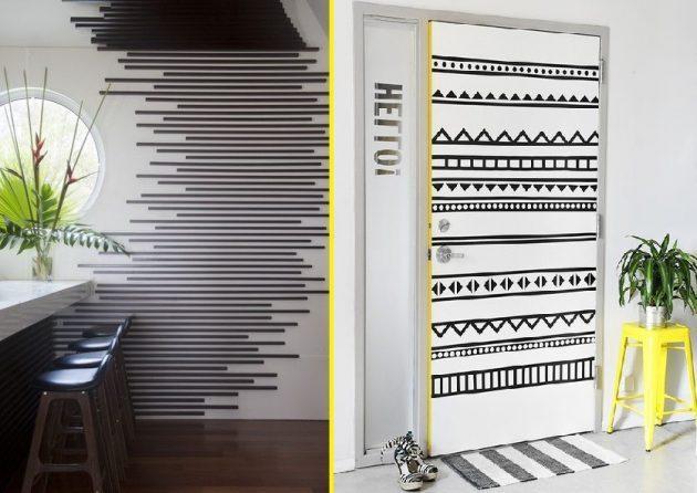 изолента: оформление комнаты