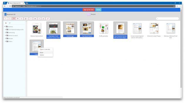 Bookmark OS: групповое редактирование