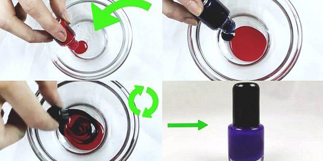 5 способов самостоятельно сделать необычный лак для ногтей