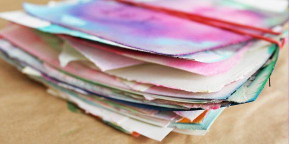 Немного магии: как сделать мраморную бумагу