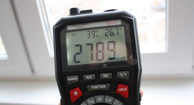 Мультиметр ADM 30: люксометр