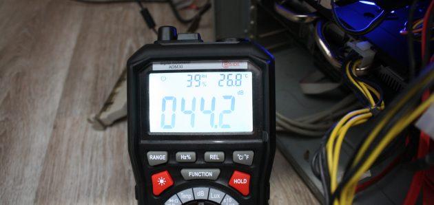 Мультиметр ADM 30: измерение шума