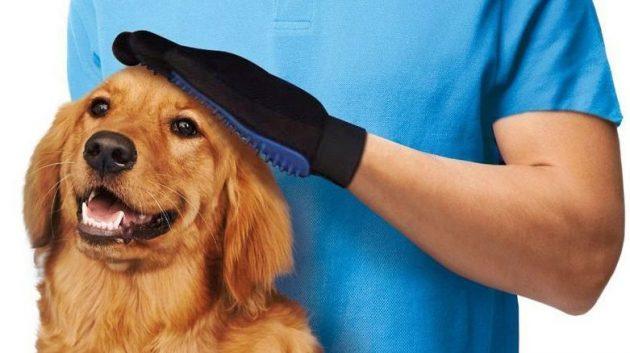 Перчатка для вычёсывания животных