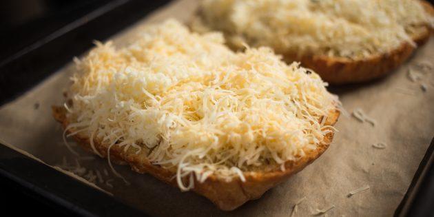 чесночные гренки: сыр