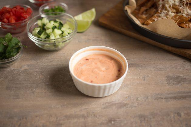 Начос из лаваша: приготовьте соус