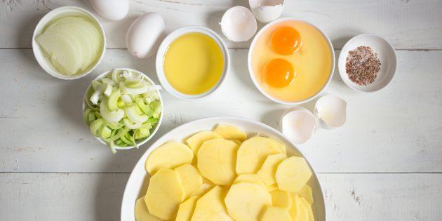 картофельный омлет: ингредиенты