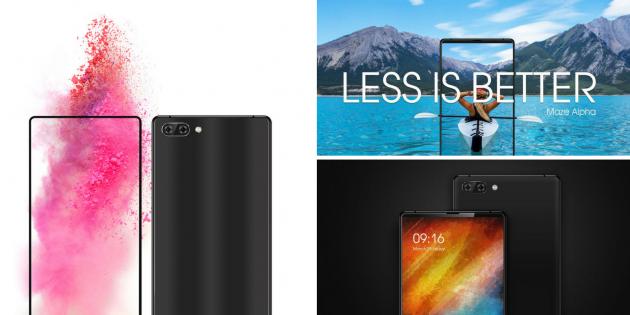 Maze Alpha: новые изображения и характеристики убийцы Xiaomi Mi Mix